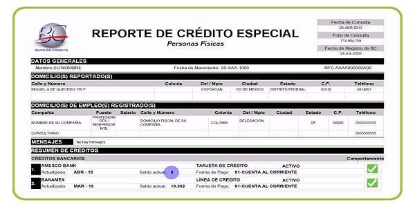 REPORTE DE CREDITO