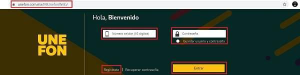 app unefon registro