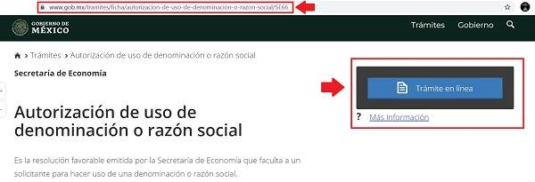 autorizacion de uso de razón social