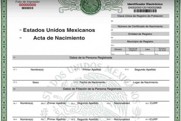 Certificado de Nacimiento en México