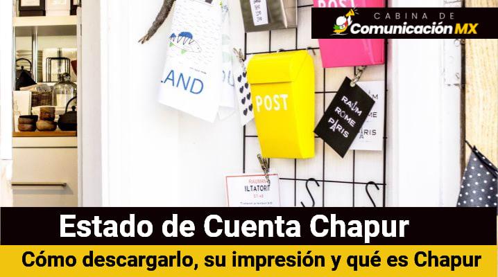 Estado de Cuenta Chapur: Cómo descargarlo, su impresión y qué es Chapur