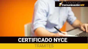 Certificado NYCE: Qué es, sus requisitos y cómo tramitarlo