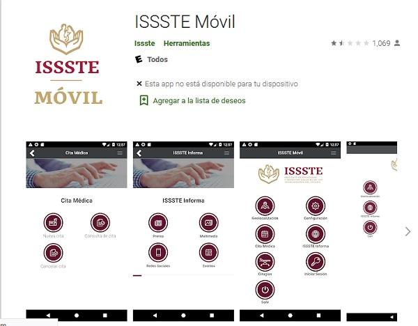 app movil cita meica issste