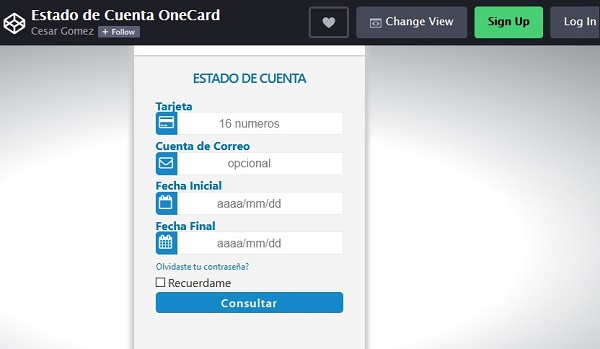 Estado de Cuenta One Card