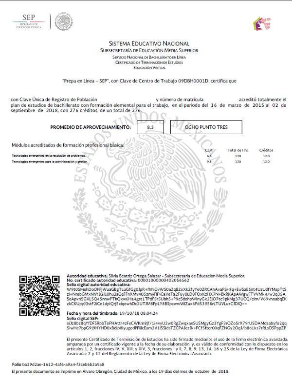 Qué es el Certificado CENEVAL